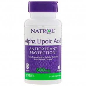 Natrol Alpha Lipoic Acid TR Time Release 600 mg. 45 Capsules