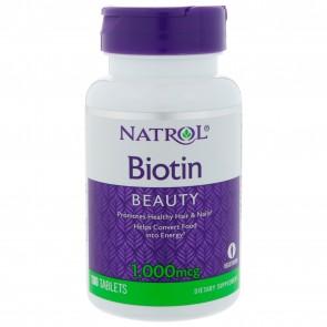 Biotin 1000mcg 100 Tabs