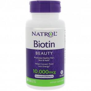 Natrol Biotin 10,000mcg 100 Tablets