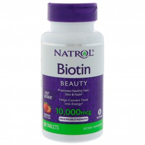 Natrol - Biotin Maximum Strength 10,000 mcg. Fast Dissolve- 60Tablets