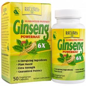 Natural Balance Ginseng Power Max 6X, Capsules - 50 count