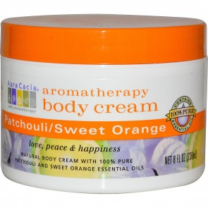 Aura Cacia, Aromatherapy Body Cream, Patchouli / Sweet Orange, 8 fl oz (236 ml)