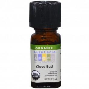 Aura Cacia Organic Clove Bud Essential Oil - 0.25 fl oz