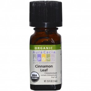 Aura Cacia Essential Oil Cinnamon Leaf 0.25 fl oz