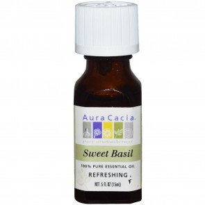 Aura Cacia Essential Oil Sweet Basil 0.5 fl oz