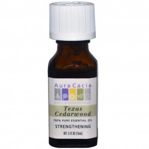 Aura Cacia Essential Oil Texas Cedarwood 0.5 fl oz
