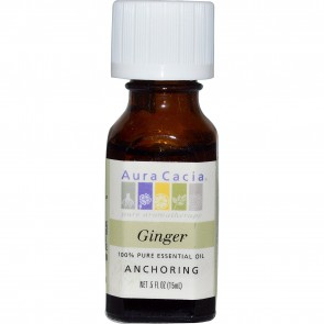 Aura Cacia, 100% Pure Essential Oil, Ginger, .5 fl oz (15 ml)