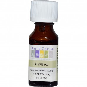 Aura Cacia Essential Oil Lemon 0.5 fl oz