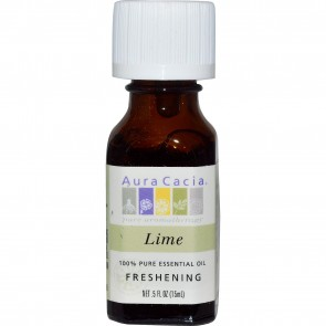 Aura Cacia 100% Pure Essential Oil Lime .5 fl oz (15 ml)