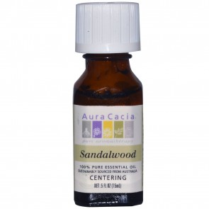 Aura Cacia Essential Oil Sandalwood 0.5 fl oz