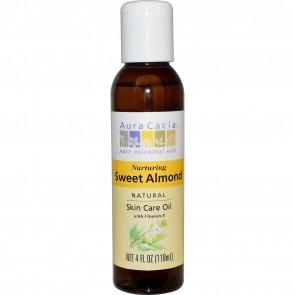 Aura Cacia, Natural Skin Care Oil, with Vitamin E, Nurturing Sweet Almond, 4 fl oz (118 ml)