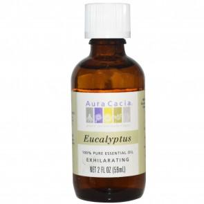 Aura Cacia, 100% Pure Essential Oil, Eucalyptus, 2 fl oz (59 ml)