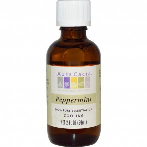 Aura Cacia 100% Pure Essential Oil Peppermint 2 fl oz