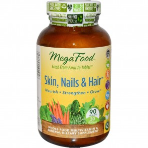 MegaFood Skin Nails and Hair 90 Tablets