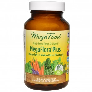 MegaFood MegaFlora Plus 50 Billion CFU 60 Capsules