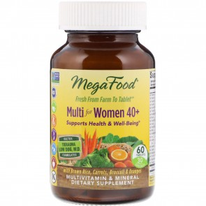 MegaFood Multi for Women 40+ 60 Tablets