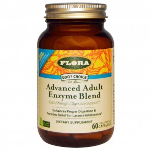 Flora Udo's Choice Advanced Adult Enzyme Blend 60 Vegetarian Capsules