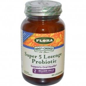 Flora Udo's Choice Super 5 Lozenge Probiotic 60 Lozenges