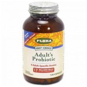 Flora Udo's Choice Adult's Probiotic 17 Billion Cells 120 Capsules