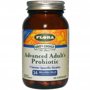 Flora Inc Udo's Choice Advanced Adult's Probiotic 34 billion cells 30 Capsules