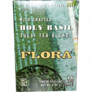 Flora Inc Holy Basil Tulsi Tea Blend Caffeine-Free 16 Tea Bags 0.96 oz (27.2 g)