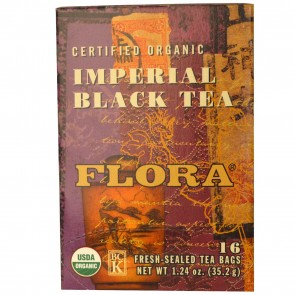 Flora Inc Certified Organic Imperial Black Tea 16 Tea Bags 1.24 oz (35.2 g)