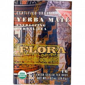 Flora Inc Certified Organic Yerba Mate Energizing Herbal Tea 16 Tea Bags 1.02 oz (28.8 g)