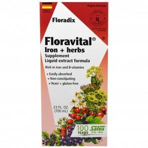 Flora Floradix Floravital Iron + Herbs Liquid 23 fl.oz
