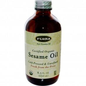 Flora Inc Certified Organic Sesame Oil 8.5 fl oz (250 ml)