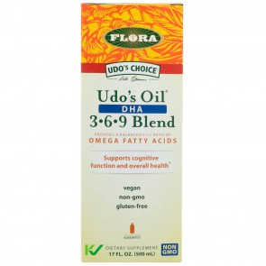 Flora Inc Udo's DHA 3-6-9 Oil Blend 17 oz