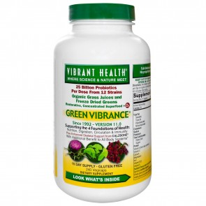 Vibrant Health Green Vibrance +25 Billion Probiotics 250 Vegi Caps