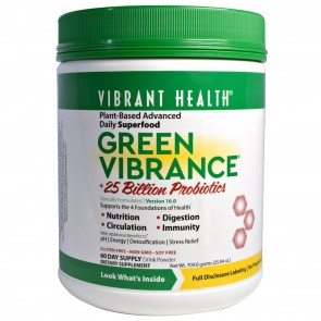Vibrant Health Green Vibrance Version 16.0 +25 Billion Probiotics (709.8 Grams)