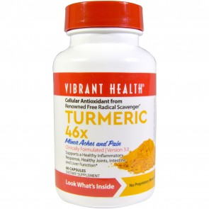 Vibrant Health Turmeric 46X Version 3.0, 60 Capsules