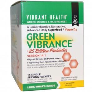 Vibrant Health Green Vibrance Powder 15 Packets
