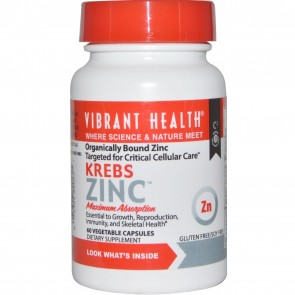 Vibrant Health Krebs Zinc 60 Vegetable Capsules