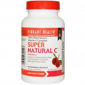 Vibrant Health Super Natural C 100% Plant Source Natural Vitamin C Complex 60 Vegetable Capsules