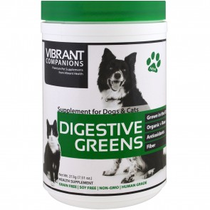 Vibrant Health Digestive Greens Supplement for Dogs and Cats 213 Grams