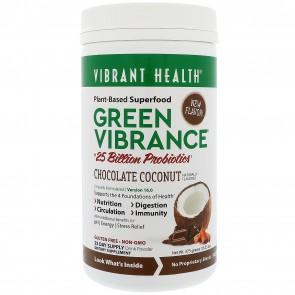 Vibrant Health Green Vibrance Chocolate Coconut 375 Grams