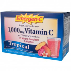 Alacer Emergen-C Fizzy Drink Mix 1000 mg Vitamin C Tropical 36 Packets