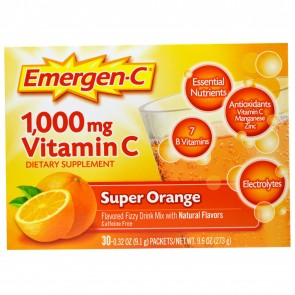 Alacer Emergen-C Super Orange 1,000mg Vitamin C 30 Packets