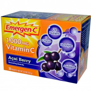 Alacer Emergen-C Fizzy Drink Mix Acai Berry Flavored 30 Packets 8.9 oz