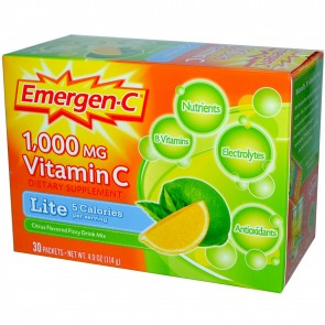 Alacer Emergen-C Lite Lemon Lime Immune System Strengthener 30 Packets