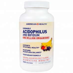 American Health Chewable Acidophilus and Bifidum 100 Wafers