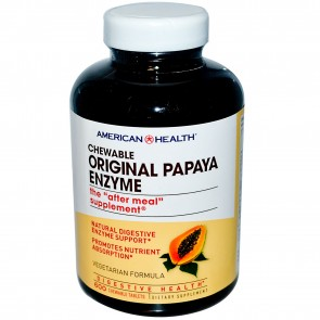 American Health- Original Papaya Enzyme 600 Chewable Tablets