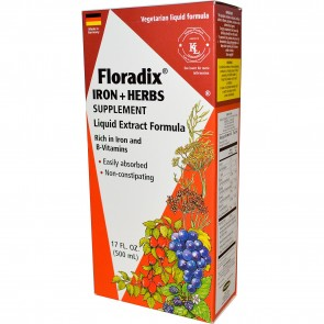 Flora Floradix Iron and Herbs Liquid 17 fl oz