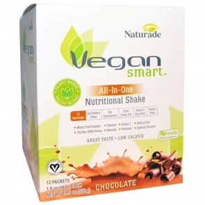 Naturade Vegan Smart All-In-One Nutritional Shake Chocolate 12 Packets