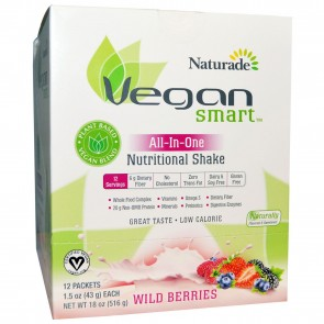 Naturade Vegan Smart All-In-One Nutritional Shake Wild Berries 12 Packets