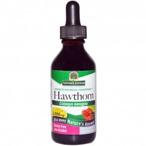 Natures Answer Hawthorn Organic Alcohol Extract - 2 fl oz dropper