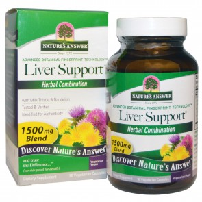Nature's Answer Liver Support Herbal Blend 90 capsules