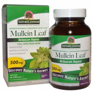 Nature's Answer, Mullein Leaf, 500 mg, 90 Veggie Caps